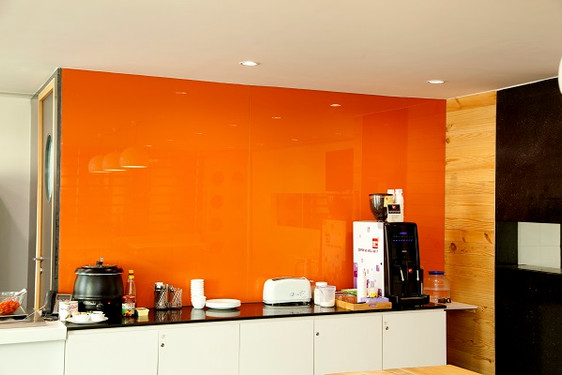 Orange Laquered Glass