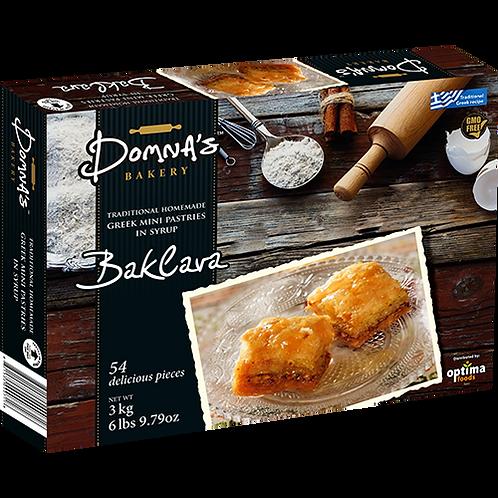 """DOMNA'S BAKERY Greek Mini Pastries in Syrup """"BAKLAVA"""" 6lb 9.79oz"""
