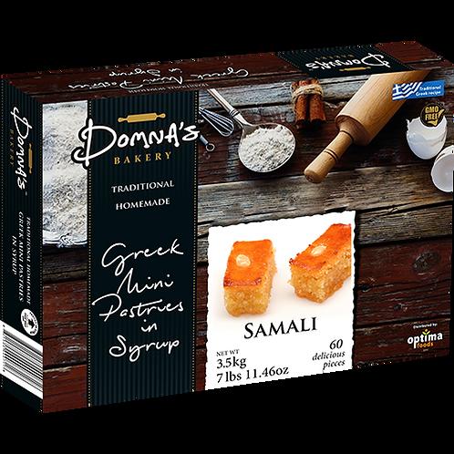 """DOMNA'S BAKERY Greek Mini Pastries in Syrup """"SAMALI"""" 7lb 11.46oz"""