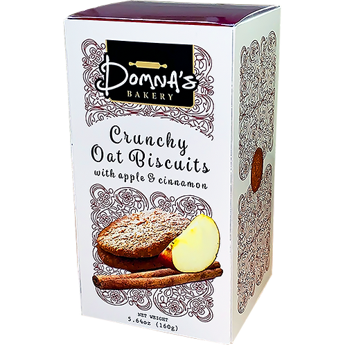 DOMNA'S BAKERY Crunchy Oat Biscuits with Apple & Cinnamon 5.64oz