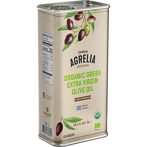 AGRELIA Organic Extra Virgin Olive Oil 3lt