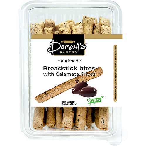 DOMNA'S BAKERY Breadstick Bites with Calamata Olives 14.1oz