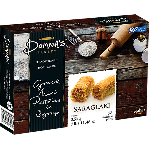 "DOMNA'S BAKERY Greek Mini Pastries in Syrup ""SARAGLAKI"" 7lb 11.46oz"