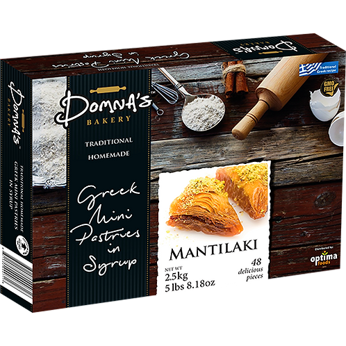"DOMNA'S BAKERY Greek Mini Pastries in Syrup ""MANTILAKI"" 5lb 8.18oz"