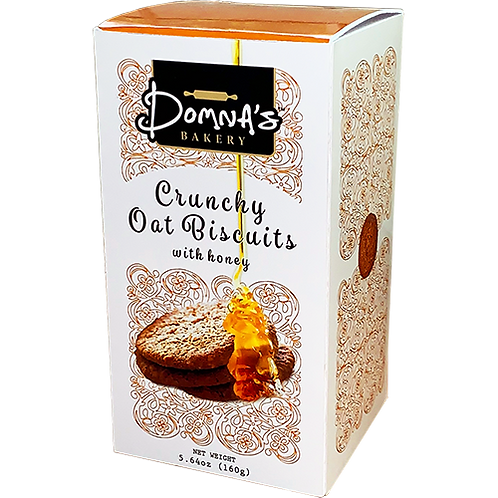DOMNA'S BAKERY Crunchy Oat Biscuits with Honey 5.64oz