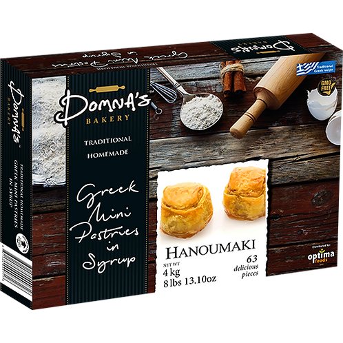 "DOMNA'S BAKERY Greek Mini Pastries in Syrup ""HANOUMAKI"" 8lb 13.10oz"