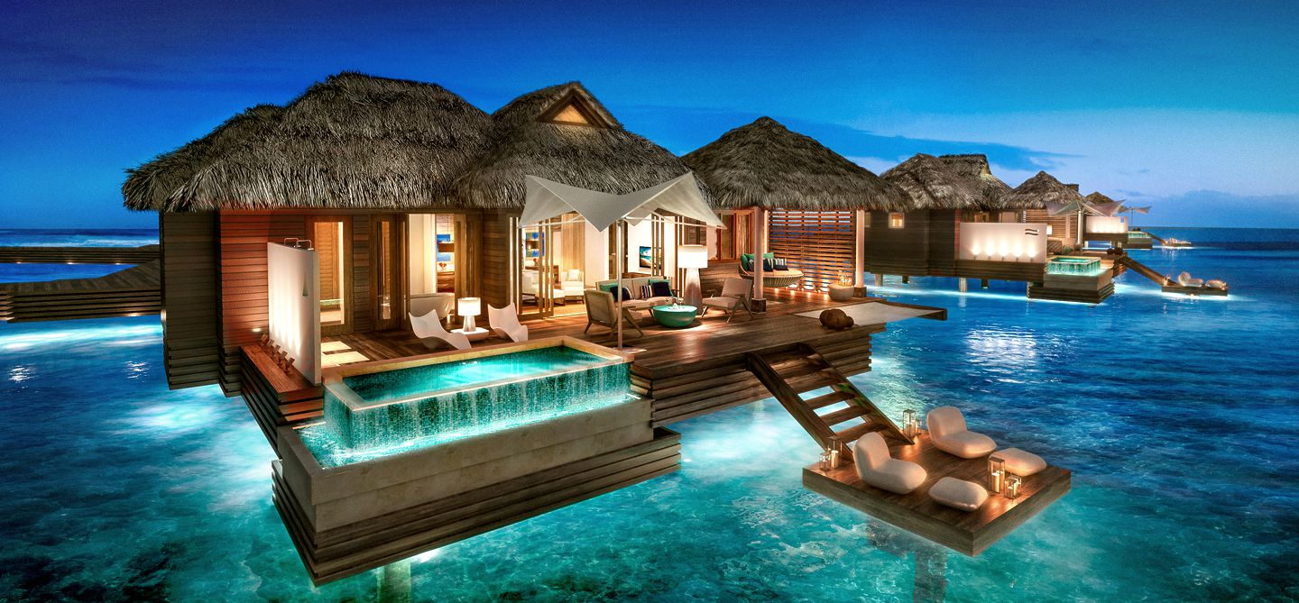 Romantic Overwater Bungalows