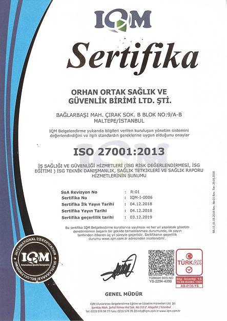 IQM-I-0006 ISO 27001.2013 BİLGİ GÜVENLİĞ