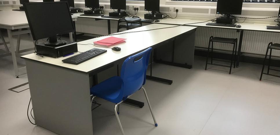 ICT room with worktop