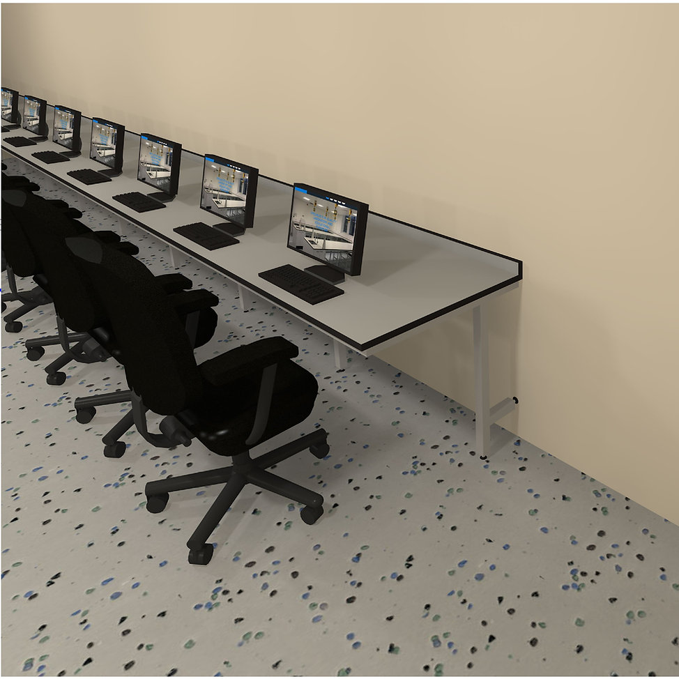 cantilever system within an ICT room