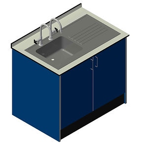 Inset Sink & Drainer with Cupboard Unit
