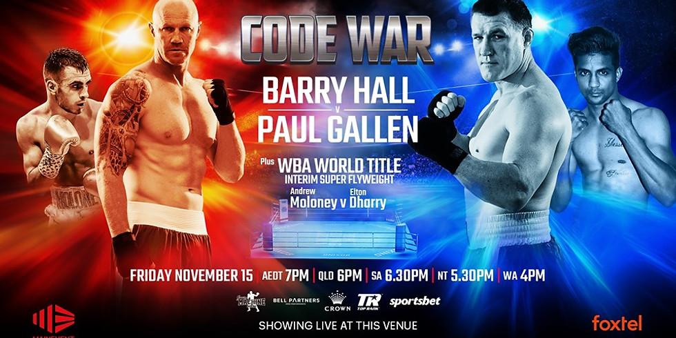 Boxing Code War: Hall V Gallen