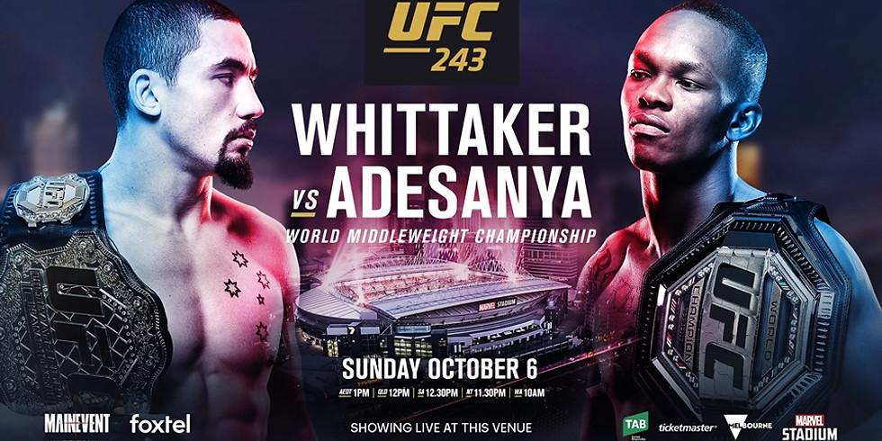 UFC 243 + NRL Grand FInal