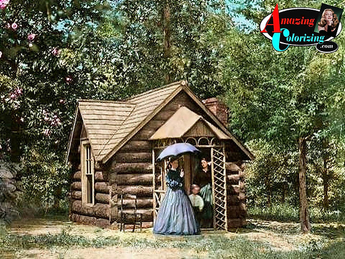 Amazing_Colorizing_Log_Cottage_of_Col. _