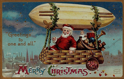Christmas Card - Santa Zepppelin (1909).