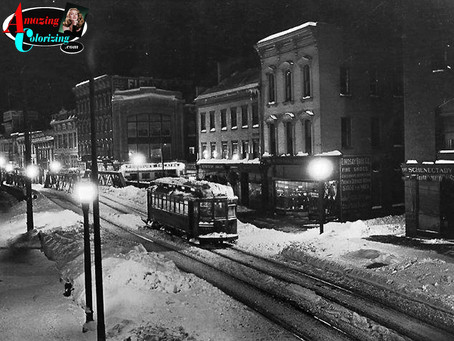 SCHENECTADY TROLLEY IN WINTER (1914)