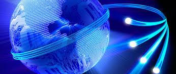Mundo conectado através de redes de cobre ou fibra óptica