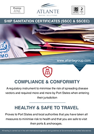 SHIP SANITATION CERTIFICATES (SSCC & SSC