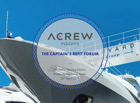 ATLANTE will host the CAPTAINS´S REFIT FORUM organized by ACREW
