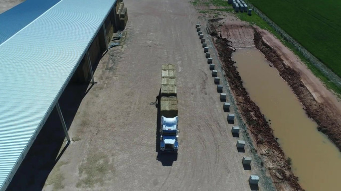 Hay Truck Loading