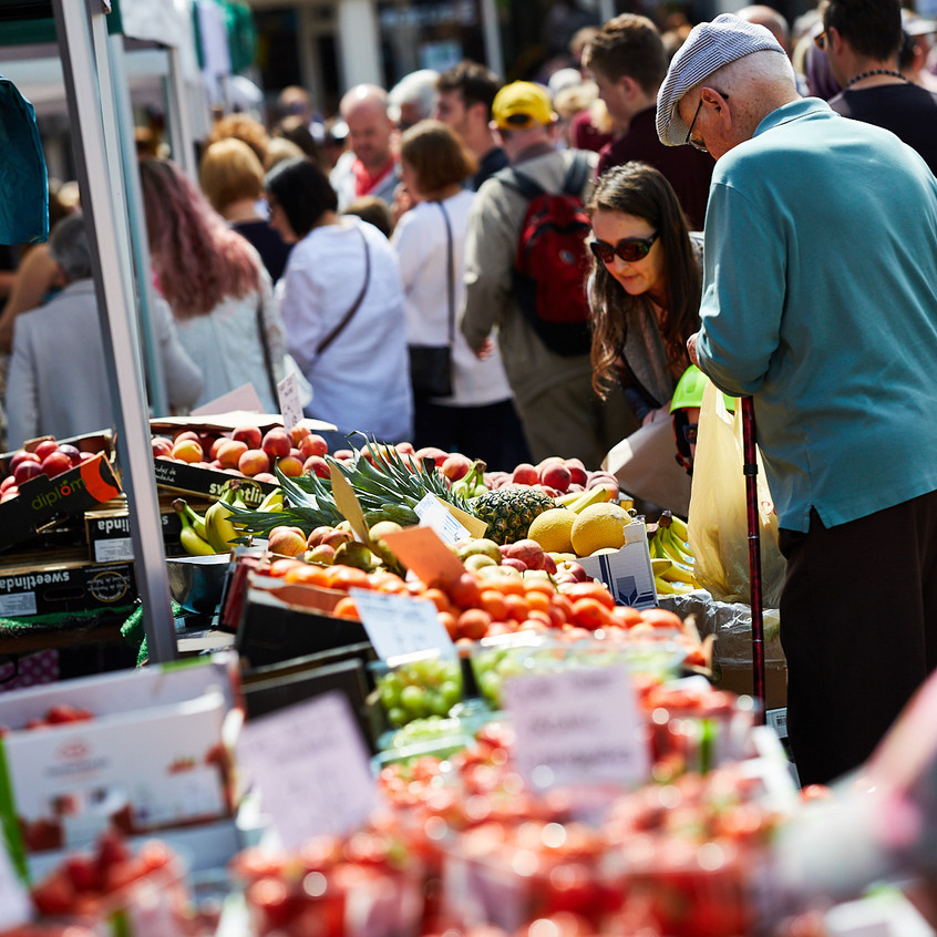 Fresh produce at the Festival