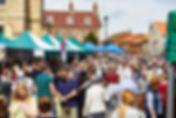 Malton FLF 2019 - Crowds Market Place Ea