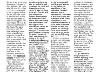 Shofar Newsletter - August 2020