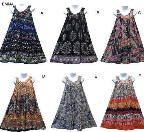 Charlotte - Short Sleeve Print Sundresses