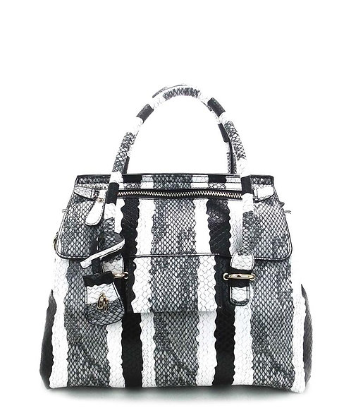 Lets Make Them Look Handbag (Black/White)