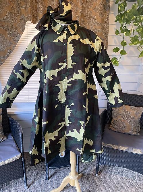 Camo Tunic/Shirt Dress