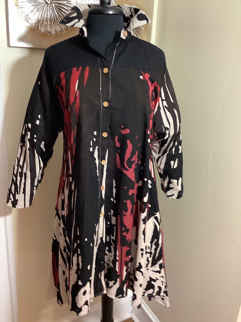 Abstract Print Shirt/Dress