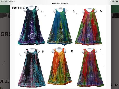 Isabella Assorted Sleeveless Midcalf Sundresses