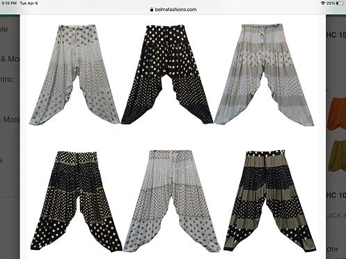 Black & Gold Harem Pants and White & Gold Harem Pants