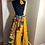 Thumbnail: Yellow Bold Floral Print Maxi Skirt with Head Wrap