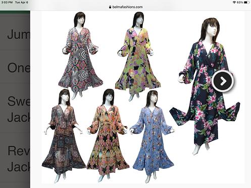 Assorted Print Maxi Dresses
