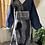 Thumbnail: Wrapped Dashiki Print & Denim Dress/Tunic