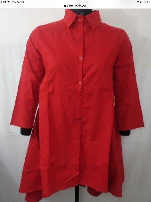 Solid Color Button Down Shirt/Tunic