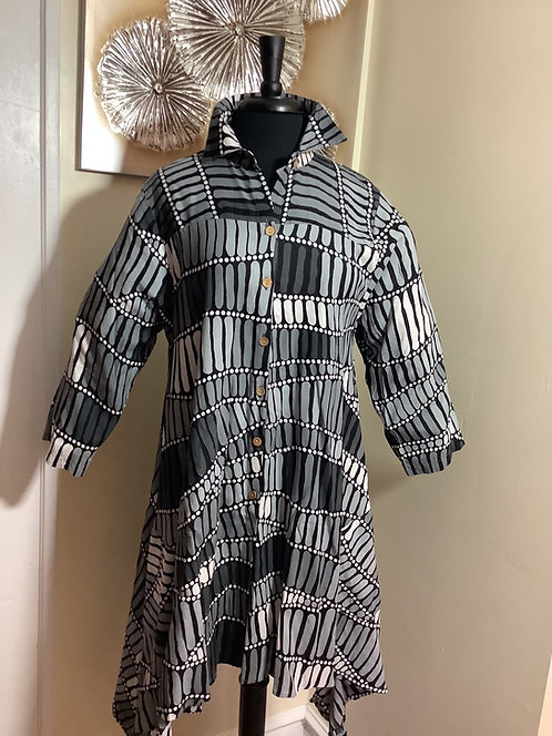 Geometric Print Shirt/Dress