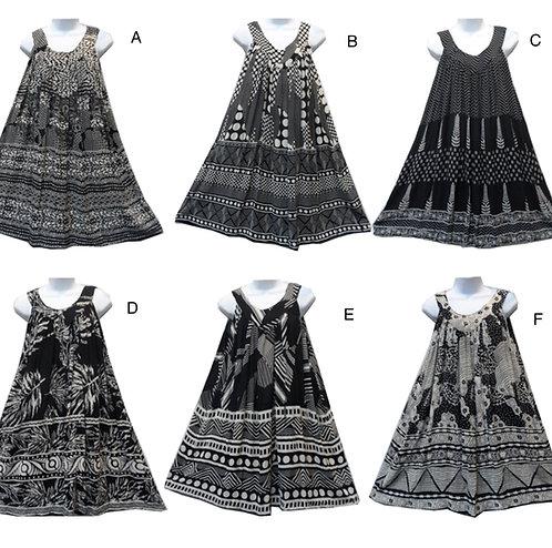 Short Sleeve Black & White Short Sundresses