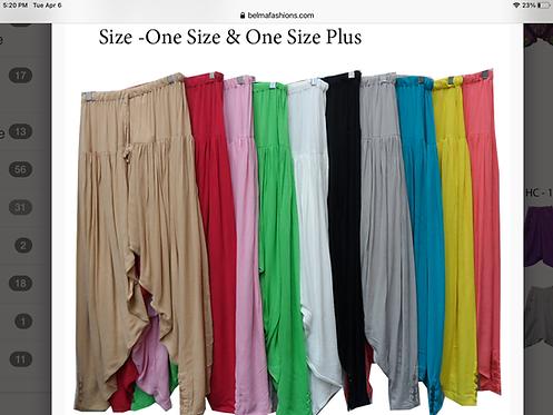 Solid Color Harem Pants