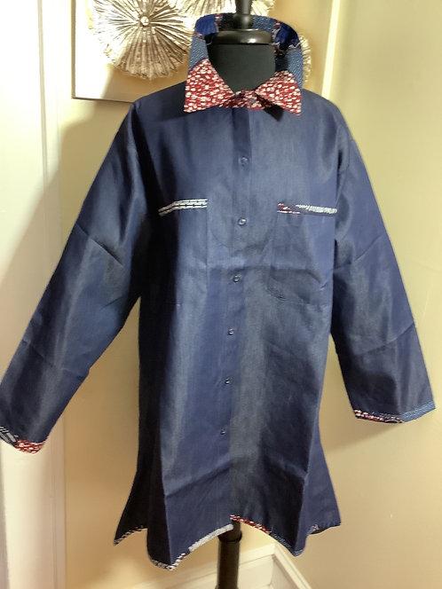 Denim Button-Down Shirtt