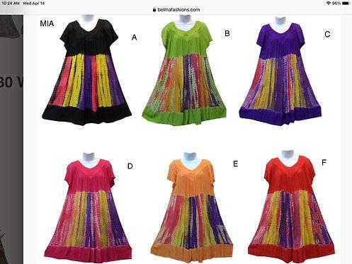 Mia Tie-Dye Short Sleeve Dress
