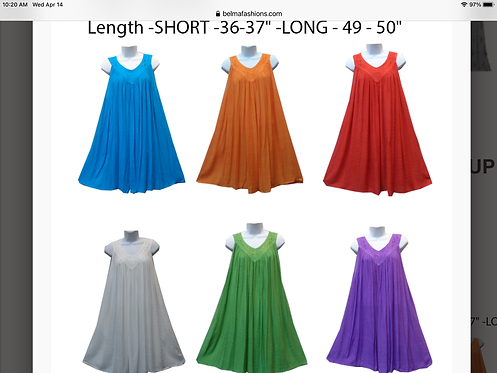 Long Solid Sundresses