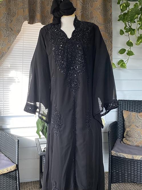 Black Abaya w/scarf
