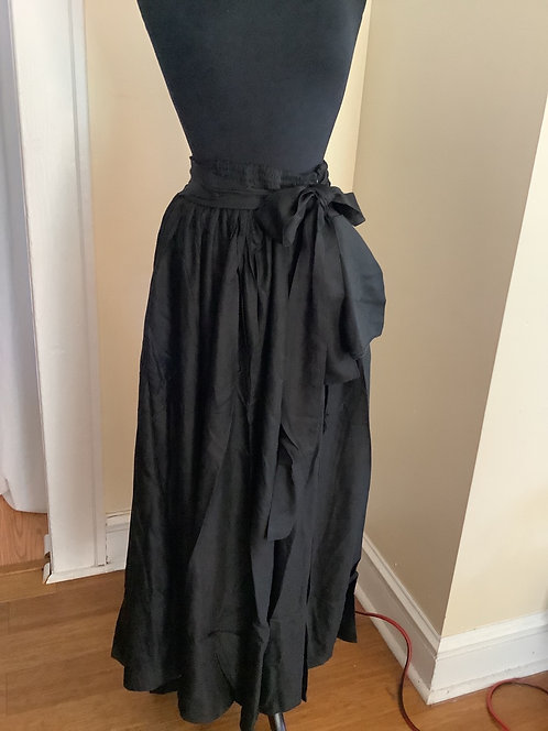 Maxi Skirt with Elastic WaistBand and Attached Belt with Head Wrap