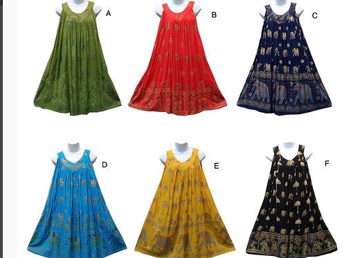 Elephant Assorted Print Sleeveless Sundresses