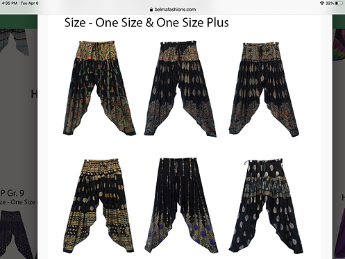 Multi Gold Harem Pants