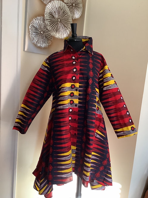 Black, Red and Gold Tunic