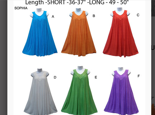 Solid Color Sleeveless Short Sundresses
