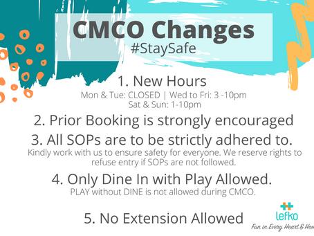CMCO Announcement 9 Nov to 6 Dec 2020